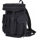 Black Canvas Travelers Mini European Rucksack Backpack