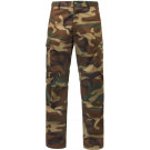 Woodland Camouflage Relaxed Fit Zipper Military Cargo Fatigue BDU Pants
