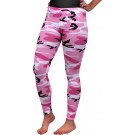 Women's Pink Camouflage Breathable Military Cotton Spandex Leggings