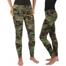 Women's Woodland Camouflage Military Spandex Leggings