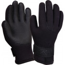 Black Military Waterproof Rubber Gloves