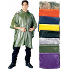 "Assorted Waterproof Vinyl Hooded Poncho (50"" x 80"")"