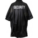 Black Tactical Law Enforcement Waterproof Security Poncho With Hood
