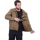 Coyote Brown Ambidextrous Security Lightweight Concealed Carry Jacket