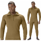 Coyote Brown ECWCS Fleece Cold Weather Zip-Collar Underwear Shirt