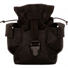 Black MOLLE II Canteen Pouch w/ Utility Pouch