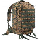 Woodland Digital Camouflage Military MOLLE II 3 Day Assault Pack Backpack