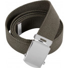 "Olive Drab Military Web Belt with Chrome Buckle (54"")"