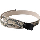 ACU Digital Camouflage Reversible Web Belt with Black Buckle