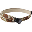 "Desert Six Color Camouflage Reversible Web Belt with Black Buckle (54"")"