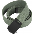 "Foliage Green Web Belt with Black Buckle (54"")"