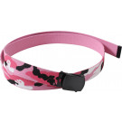 "Pink Camouflage Reversible Web Belt with Black Buckle (54"")"