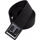 Black Military Web Belt with Black Open Face Buckle