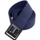 Navy Blue Military Cotton Web Belt & Black Open Face Buckle
