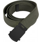 Olive Drab Military Web Belt with Black Buckle