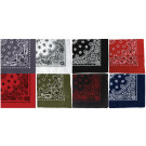 "8 Color Pack Trainmen Cotton Paisley Biker Sport Bandanas (27"" x 27"")"