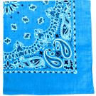 "Light Blue Trainmen Cotton Paisley Sport 27"" x 27"" Bandana Biker Headwrap"