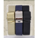 "100% Cotton Military Web Belts 54"" - 3 Pack"