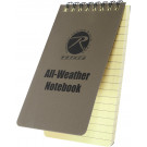 "Coyote Brown All Weather Waterproof Notebook 4"" x 6"""