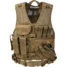 Coyote Brown Military Tactical Cross Draw Vest
