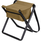 Coyote Brown Portable Folding Deluxe Stool