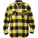 Yellow Extra Heavyweight Brawny Buffalo Plaid Flannel Shirt