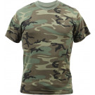 Woodland Camouflage Vintage Military Short Sleeve T-Shirt