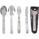 Stainless Steel Locking Chow Set (3 Piece)