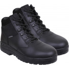 Black Waterproof Forced Entry Slip Resistant Mid Top Tactical Boots