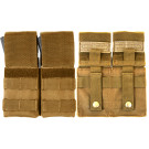 Coyote Brown Military Double MOLLE M16 Mag Pouch