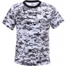 City Digital Camouflage Military Short Sleeve T-Shirt