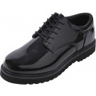 Black Hi-Gloss Shiny Military Uniform Shoes with Work Sole
