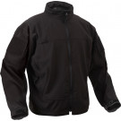 Black Military Soft Shell Covert Light Weight Casual Waterproof Uniform Jacket
