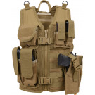 Kids Coyote Brown Tactical MOLLE Cross Draw Vest