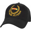 Black Military Vietnam Veteran Supreme Low Profile Adjustable Cap