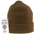 Coyote Brown Military Winter Beanie Hat Wool Watch Cap USA Made