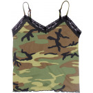 Woodland Camouflage Lace Trimmed V-Neck Camisole