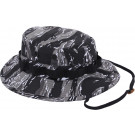 Urban Tiger Stripe Camouflage Military Wide Brim Boonie Hat