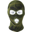 Woodland Camouflage Military Deluxe Three Hole Acrylic Face Mask