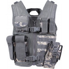 Kids ACU Digital Camouflage MOLLE Tactical Cross Draw Vest