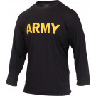 Black Long Sleeve Performance APFU Physical Training PT Shirt