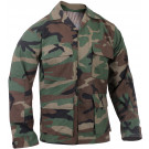 Woodland Camouflage Rip-Stop Military BDU Fatigue Shirt