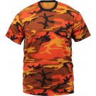 Savage Orange Camouflage Military Short Sleeve T-Shirt