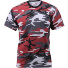 Red Camouflage Military Short Sleeve T-Shirt