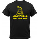Black Military Vintage T-Shirt Design Don't Tread On Me Short Sleeve T-Shirt