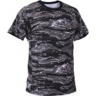 Urban Tiger Stripe Camouflage Military Short Sleeve T-Shirt