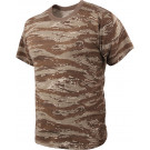 Desert Tiger Stripe Camouflage Military Short Sleeve T-Shirt