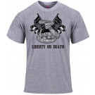 Grey Liberty or Death Revolutionary War T-Shirt