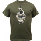 Olive Drab Military T-Shirt Design Come & Take It Short Sleeve T-Shirt