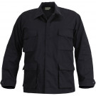 Black Military BDU Rip-Stop Fatigue Shirt
